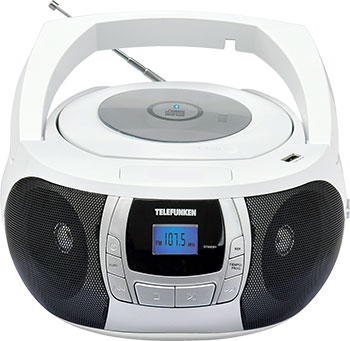 цена на Магнитола Telefunken TF-CSRP3498B (белый с черным)