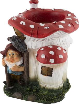 Фигурка садовая Park Гном в грибном домике 169297