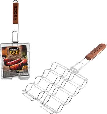 Решетка-гриль Ecos для сосисок колбасок шпикачек RD-674 999674 вилка гриль для сосисок boyscout цвет стальной красный
