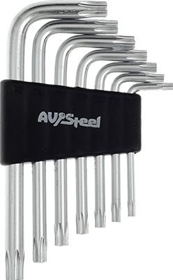 Фото - Набор ключей AV Steel Г-образных TORX с отверстием TH10-TH40 7 предм. AV-367307 7 quality steel pliers electrical repair tool
