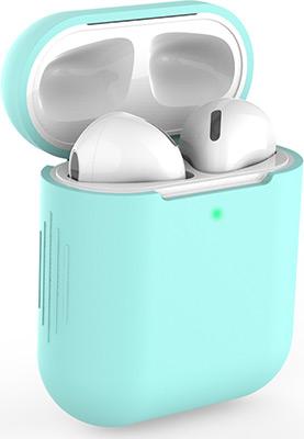 Фото - Чехол силиконовый Eva для наушников Apple AirPods 1/2 - Бирюзовый (CBAP04TQ) домашние тапочки coqui eva
