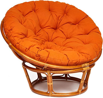 Кресло Tetchair PAPASAN 23/01 W /с подушкой/ Cognac (коньяк) ткань Оранжевый С 23 13735