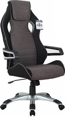 Кресло Brabix ''Techno GM-002''  ткань  черное/серое  вставки белые  531815