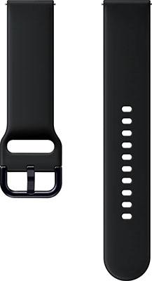 Спортивный ремешок Samsung Sport Band для Galaxy Watch Active/Active2 аква чёрный (ET-SFR82MBEGRU) ремешок samsung galaxy watch sport band et sfr82mbegru для samsung galaxy watch active active2 черный