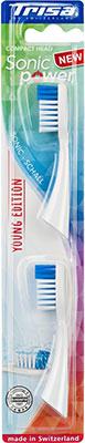 Сменные насадки для электрических зубных щеток Trisa Sonicpower 2 шт. (661899-White) насадка для зубных щеток seago sg 002 2 шт [sg 002 white]