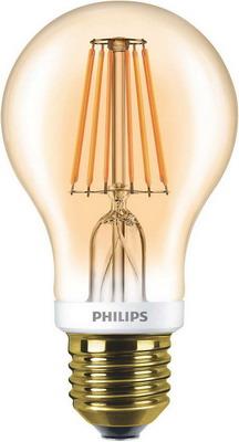 Лампа Philips LEDCla 7.5-60 W A 60 E 27 2000 K GOLD philips ledbulb 7 60 w e 27 3000 k 230 v a 60 pf