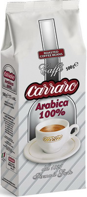 цена Кофе зерновой Carraro Arabica 100% 0 5кг онлайн в 2017 году