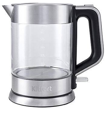 Чайник электрический Kitfort КТ-617 чайник электрический kitfort кт 620 1 1 7л 2200 вт белый черный корпус нержавеющая сталь пластик