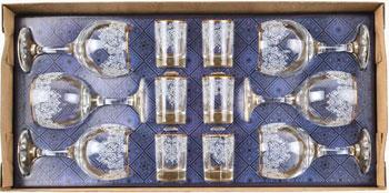 Подарочный набор Гусь Хрустальный 12 пр. арт.1613-Г3 (Боярский)