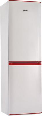 Двухкамерный холодильник Позис RK FNF-174 белый с рубиновыми накладками цена
