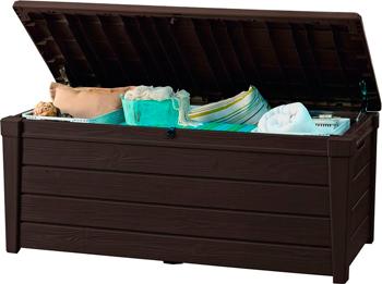 Сундук Keter Brushwood Storage box 455 L коричневый под дерево 17202631 цена и фото