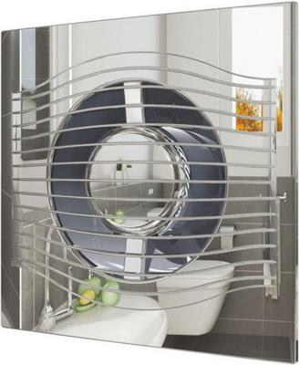 Вентилятор вытяжной с обратным клапаном DiCiTi, SLIM 5C Chrome