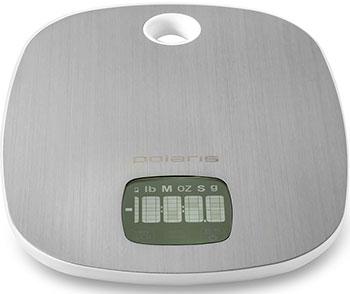 Кухонные весы Polaris PKS 0539DMT сталь/белы