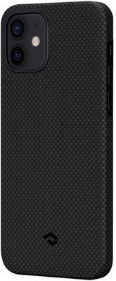 Чеxол (клип-кейс) Pitaka для iPhone 12 mini черно-серый (мелкое плетение) (KI1202)