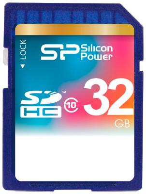 Карта памяти Silicon Power SDHC 32 Gb Class 10 SP 032 GBSDH 010 V 10 silicon power sp032gbsdh010v10 sdhc 32гб class 10