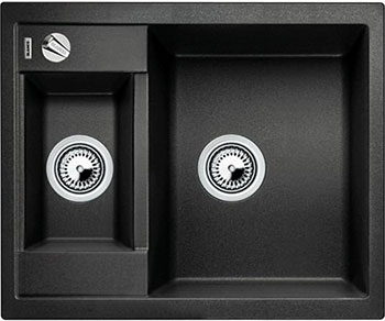 Кухонная мойка BLANCO METRA 6-F антрацит с клапаном-автоматом кухонная мойка blanco metra 6 f антрацит 519134