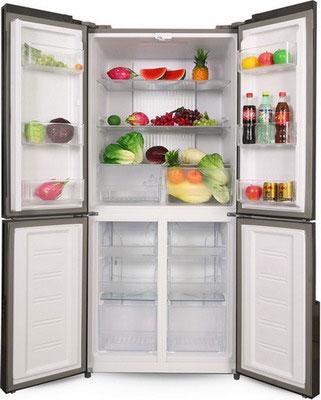 Многокамерный холодильник Ginzzu NFK-500 черный холодильник ginzzu nfk 510 gold glass