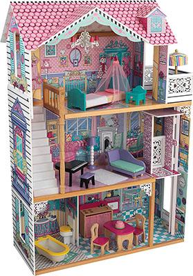 Трехэтажный дом для кукол Барби KidKraft Аннабель 65079_KE кукольный домик kidkraft для барби аннабель с мебелью в подарочной упаковке