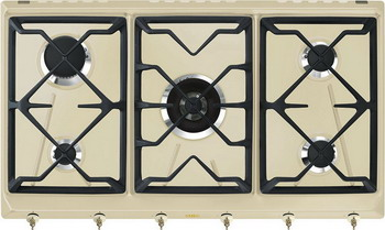 Встраиваемая газовая варочная панель Smeg SRV 896 POGH