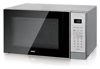 Микроволновая печь - СВЧ BBK 20 MWS-729 S/BS черный/серебро supra микроволновая печь mws 2103ms 700 вт 21л
