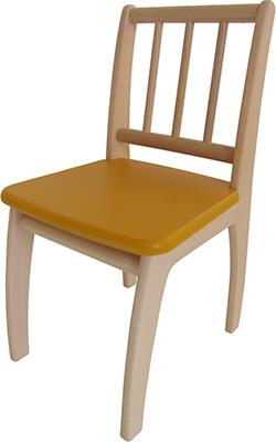 Стул Geuther Bambino 2420 NAGY натуральный/желтый столик игровой geuther bambino белый натуральный