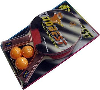Набор для игры DoBest BR 06 0 звезд (2 ракетки + 3 мяча) цена