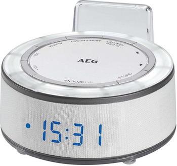 Будильник AEG MRC 4151 weiss радиочасы aeg mrc 4145 f white