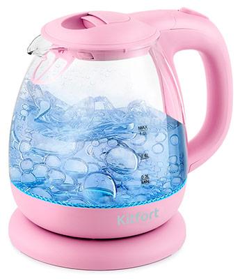Фото - Чайник электрический Kitfort KT-653-2 розовый чайник kitfort kt 642 1 розовый 2200 вт 1 7 л