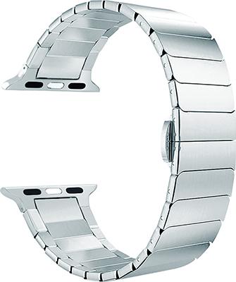 Ремешок для часов Lyambda из нержавеющей стали для Apple Watch 42/44 mm CANOPUS DS-APG-05-44-SL Silver ремешок для часов lyambda для apple watch 42 44 mm libertas ds apg 06 44 bk black