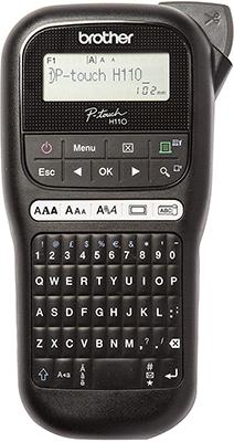 Компактный принтер для печати наклеек Brother P-touch PT-H110 BUNDLE переносной черный/белый цена