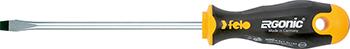 Отвертка Felo Ergonic плоская шлицевая 6 5X1 2X150 40065510 отвертка felo ergonic плоская шлицевая 5 5x1 0x150 40055510