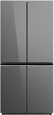 Многокамерный холодильник Ginzzu NFK-525 серое стекло холодильник ginzzu nfk 510 gold glass