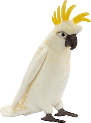 Мягкая игрушка Hansa Creation 2654 Какаду белый 32 см мягкая игрушка сова hansa сова белая искусственный мех синтепон белый 18 см 6155