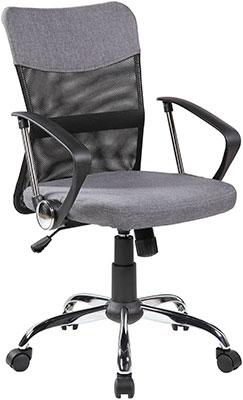 Кресло Riva Chair Chair 8005 Серая ткань/Чёрная сетка