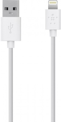 Кабель Belkin USB папа/8-pin lightning папа 1 2м белый (F8J023bt04-WHT) кабель usb emperor lightning rc 054i 1 м золотистый