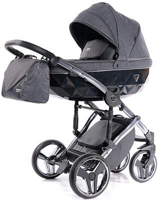 коляски 2 в 1 Коляска детская 2 в 1 Junama SAPHIRE JSH-02 (графит/рама серебро) JSH-02