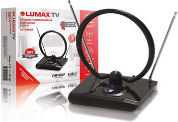 Фото - ТВ антенна Lumax DA1503A комнатная dvb t2 антенна lumax da1503a