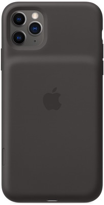 Чехол-аккумулятор Apple для iPhone 11 Pro Max Smart Battery Case with Wireless Charging - Black MWVP2ZM/A чехол аккумулятор для iphone xs apple smart battery case pink sand клип клейс силикон беспроводная зарядка