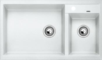 Кухонная мойка Blanco METRA 9 SILGRANIT (чаша слева) белый фото