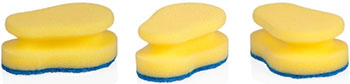Губки кухонные Tescoma CLEAN KIT 3 шт. для деликатных поверхностей 900652