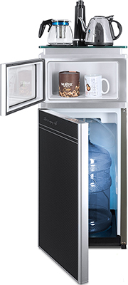 Кулер для воды Ecotronic с чайным столиком TB3-LE UV выкатной полкой и лампой UV