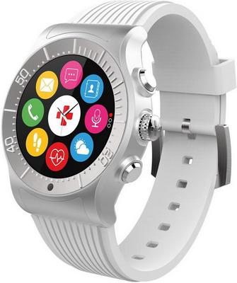 Часы MyKronoz ZeSport (KRZESPORT-WHITE) серебро/белый смарт часы mykronoz zesport цвет титаниум оранжевый