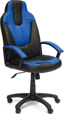 Кресло Tetchair NEO (2) (кож/зам черный синий PU C-36-6/PU C 36-39) кресло tetchair neo 2 кож зам черный жёлтый pu 36 6 36 14