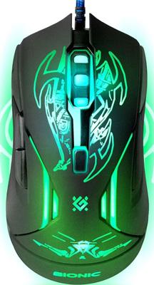 Проводная игровая мышь Defender Bionic GM-250 L 52250