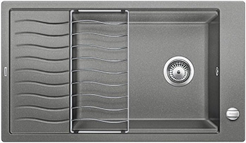 Кухонная мойка Blanco ELON XL 8 S алюметаллик inFino 524862 кухонная мойка blanco elon xl 8 s жемчужный infino 524863