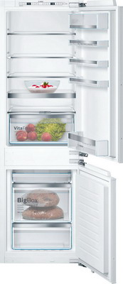 Встраиваемый двухкамерный холодильник Bosch KIN 86 HD 20 R встраиваемый двухкамерный холодильник siemens ki 86 nvf 20 r