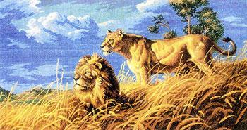 Вышивка 14ст,16ст Белоснежка 1565-14 Цари саванны