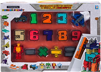 Набор Трансформеры 1 Toy Трансботы ''Боевой расчет'' (10 цифр 5 знаков)Т16430