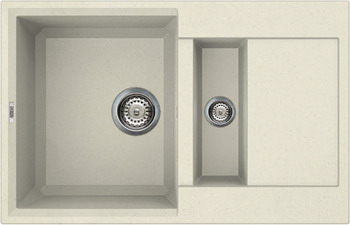 Кухонная мойка Elleci EASY 325 granitek (62) Bianco Antico LGY 32562 caprigo зеркало для ванной caprigo альбион 80 100 bianco antico
