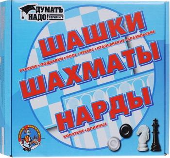 Настольная игра Десятое Королевство ШАШКИ/ НАРДЫ/ ШАХМАТЫ настольная игра десятое королевство шашки нарды большие